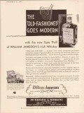 mckesson and robbins 1934 old fashioned goes modern whiskey vintage ad