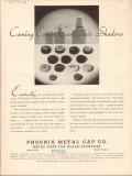 phoenix metal cap company 1934 coming events cast shadows vintage ad