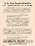 pneumatic scale corp 1934 any speed capacity container vintage ad