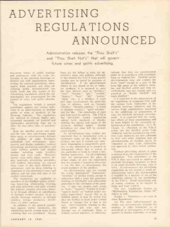 advertising regulations announced 1935 wine whiskey vintage article