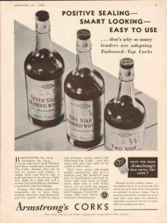 armstrong cork products co 1935 embossed positive sealing vintage ad
