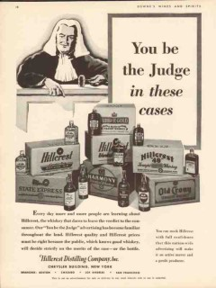 hillcrest distilling co 1935 you be the judge these cases vintage ad