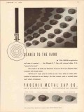 phoenix metal cap company 1935 geared to the hand closure vintage ad