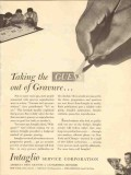 intaglio service corp 1947 taking the guess out of gravure vintage ad