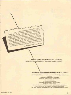 business publisher international 1947 export magazine media vintage ad
