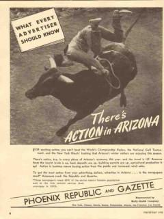 phoenix republic gazette 1947 newspaper action in arizona vintage ad