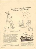 hollands magazine 1947 cant keep them indoors in the south vintage ad