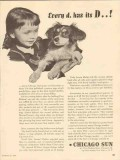 chicago sun 1947 every dog has its day newspaper media vintage ad