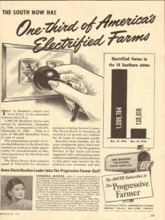 progressive farmer 1947 electrified farms magazine media vintage ad