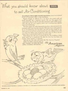 the american magazine 1947 sex sell air conditioning media vintage ad