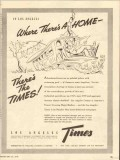 los angeles times 1947 where theres a home newspaper media vintage ad
