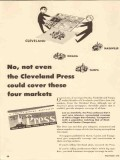 cleveland press 1947 no cover four markets newspaper media vintage ad