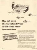 cleveland press 1947 no cover four markets newspaper media vintage ad