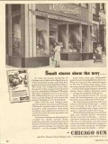 chicago sun 1947 small stores odonnell meats grocery media vintage ad