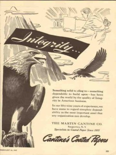 martin contine company 1947 integrity american business vintage ad