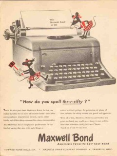 howard paper mills inc 1947 how spell thrifty maxwell bond vintage ad