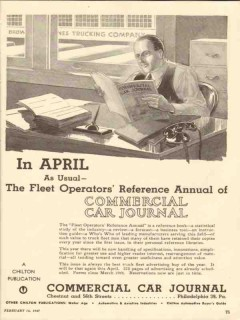 commercial car journal 1947 fleet operators reference media vintage ad