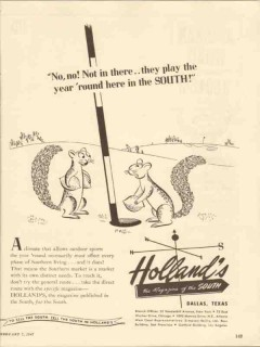 hollands magazine 1947 play year round in the south media vintage ad