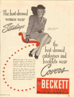 beckett paper company 1947 best dressed catalogues covers vintage ad