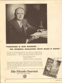 atlanta journal 1947 roy mather brothers furniture business vintage ad