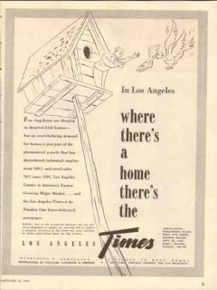 los angeles times 1947 fast growing major market newspaper vintage ad