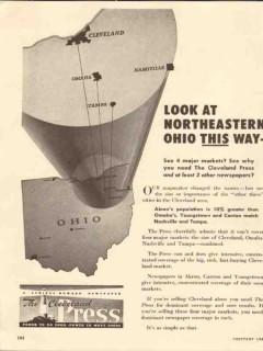 cleveland press 1947 northeastern hhio this way newspaper vintage ad