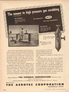 Aerotec Corp 1954 Vintage Ad Gas Scrubbing Answer To High Pressure