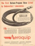Aeroquip Corp 1954 Vintage Ad Underwriters First Butane Propane Hose