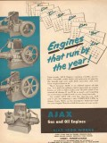 Ajax Iron Works 1954 Vintage Ad Oil Field Engines Run Year Petroleum