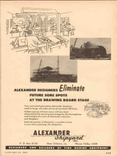 alexander shipyard inc 1954 eliminate future sore spots vintage ad