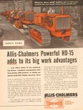 allis-chalmers 1954 powerful hd-15 tractor hydraulic torque vintage ad