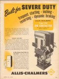 allis-chalmers 1954 built for severe duty 256 air contactor vintage ad