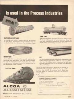 aluminum company of america 1954 alcoa process industries vintage ad