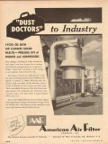 American Air Filter Company 1954 Vintage Ad Dust Doctors To Industry
