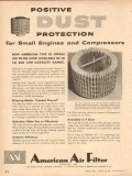 American Air Filter Company 1954 Vintage Ad Positive Dust Protection