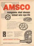 american brake shoe company 1954 manganese steel sheaves vintage ad