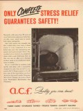 american car foundry 1954 complete stress relief safety vintage ad