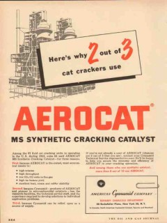 American Cyanamid 1954 Vintage Ad Cat Crackers Use Aerocat Catalyst