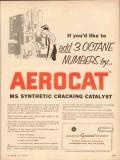 American Cyanamid Company 1954 Vintage Ad Add 3 Octane Numbers Aerocat