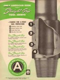 American Iron Machine Works 1954 Vintage Ad Straight Grip Tool Joints