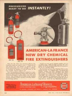 american lafrance foamite co 1954 pressurized ready to go vintage ad