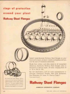 american locomotive 1954 rings protection around your plant vintage ad