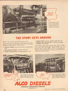 american locomotive 1954 story around alco diesel engines vintage ad