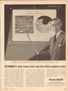 american brass company 1954 anaconda tubes air bubble cause vintage ad