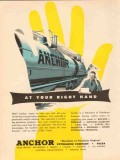Anchor Petroleum Company 1954 Vintage Ad At Your Right Hand Problems