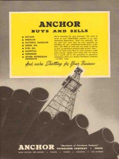 Anchor Petroleum Company 1954 Vintage Ad Buys Sells Shooting Business