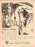 Anglo-Iranian Oil Company 1954 Vintage Ad Portrait Prospector BP