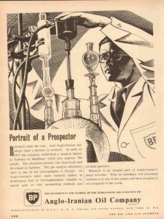 Anglo-Iranian Oil Company 1954 Vintage Ad Portrait Prospector BP