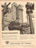 Anglo-Iranian Oil Company 1954 Vintage Ad On Stream In Seven Countries