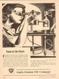 Anglo-Iranian Oil Company 1954 Vintage Ad BP Focus On Future Research